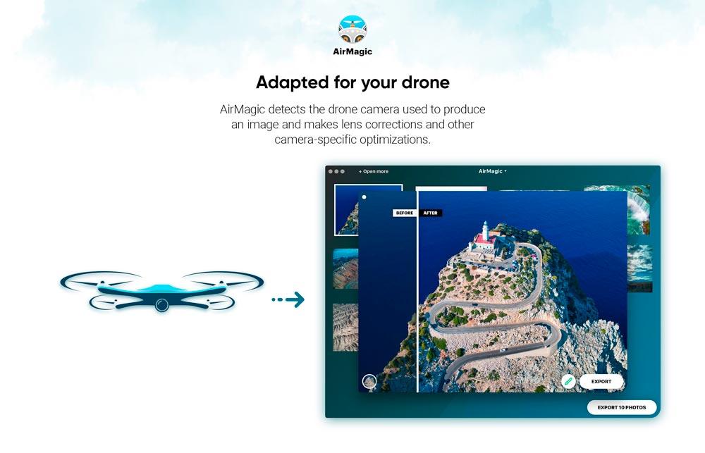 TEST : AirMagic, le logiciel qui retouche vos photos aériennes automatiquement 2