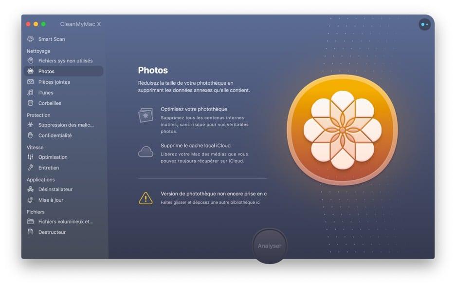 Interface clean my Mac Photos
