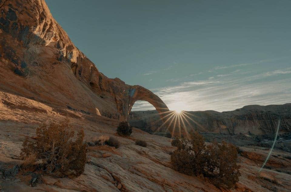 coucher de soleil en etoile - starburst