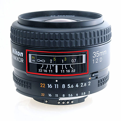 A close up of a lens  Description automatically generated