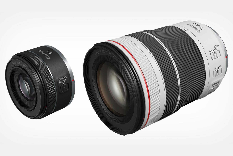 Canon ajoute 70-200mm f4 L et 50mm f1.8 STM RF